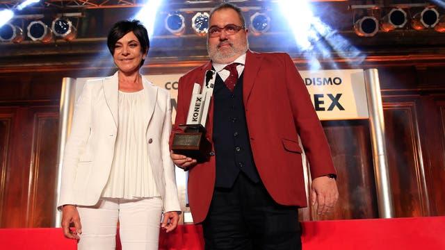 Jorge Lanta, con su Konex