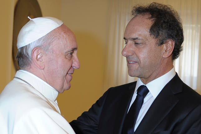 Papa Francisco, Jorge Bergoglio - junto a Daniel Scioli