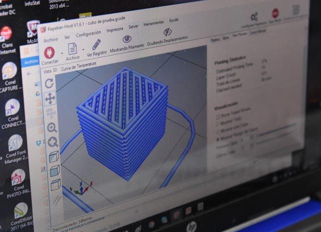 Una muestra del software usado en el laboratorio de la UNC