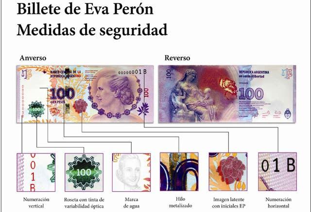 Medidas de seguridad de los nuevos billetes