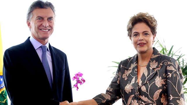 Macri junto a Dilma Rousseff