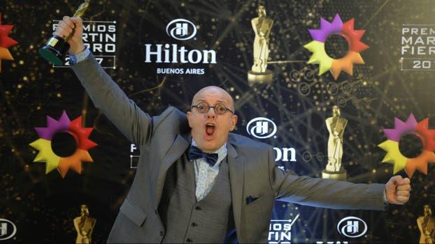 Campi, ganador del mejor programa humorístico. Foto: LA NACION / Gerardo Viercovich