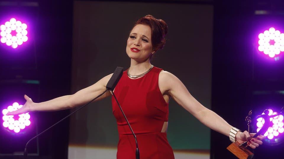 Jimena González ganó el premio a la mejor actriz en musical infantil por Zoomos Libres. Foto: Fabián Marelli