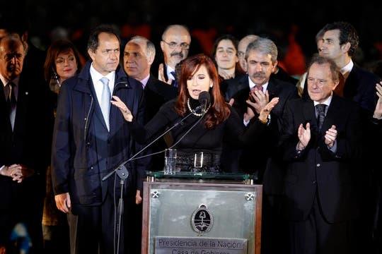 Cristina Kirchner inauguró la muestra en Villa Martelli. Foto: LA NACION / Rodrigo Néspolo