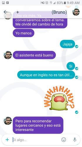 Allo ofrece stickers, comprobación de lectura, intercambio de fotos y audio