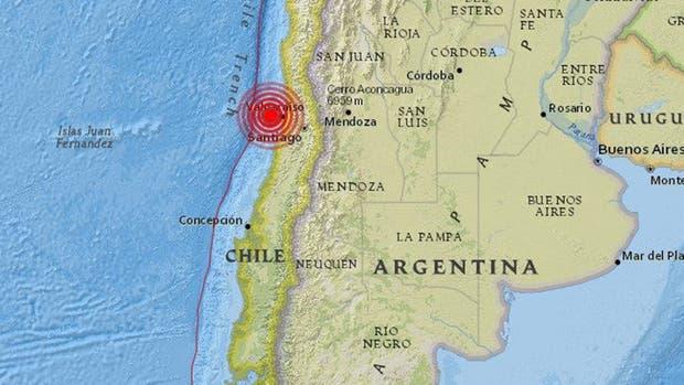 Un sismo de 6,1 grados en la escala de Richter sacudió anoche, hacia las 23.30, la zona central de Chile