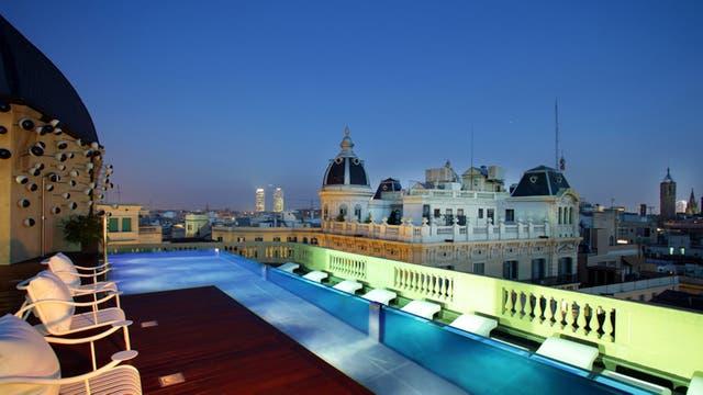 Terrazas con vistas espectaculares desde mas de 60 hoteles. Foto: AFP
