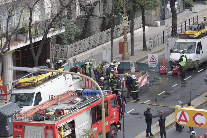 Escape de gas en Barracas: murió un operario y hay varias personas hospitalizadas. Foto: LA NACION / Soledad Aznarez