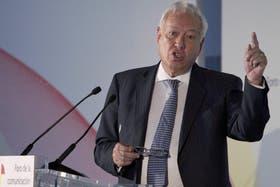 El canciller español García Margallo, ayer, en Madrid
