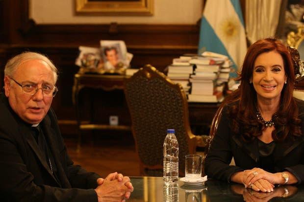 Monseñor Arancedo y la presidenta Cristina Kirchner