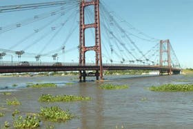 Una imagen de la crecida del Paraná en 2013, en su paso por Santa Fe