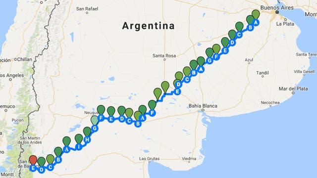 Mapa de toda la travesía