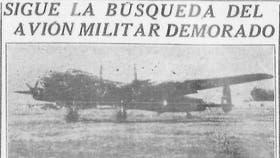 En 1950, la publicación de La Nación sobre el avión perdido en Tierra del Fuego