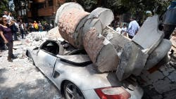 Daños en la Ciudad de México luego del terremoto