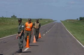 Gendarmes en Gualeguaychú