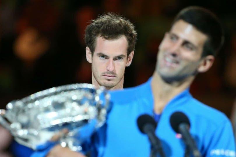 Novak Djokovic superó a Andy Murray y conquistó su quinta corona en Australia. Foto: AFP