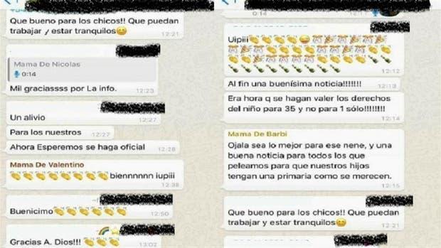 Captura da conversa. Em processo de descrição. Fonte: La Nacion.