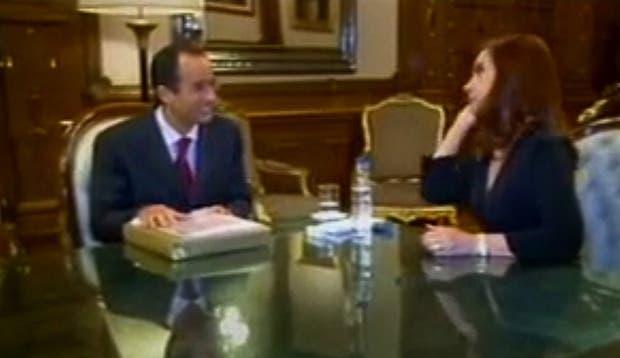 Marcelo Odebrecht y Cristina, en el video que aportó el fiscal