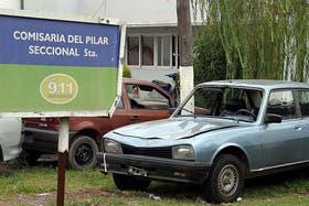 El auto de García en la Seccional 5ta de Pilar