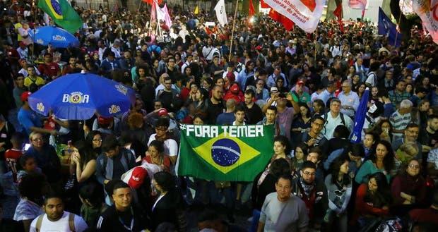 Las marchas contra Temer en Río de Janeiro