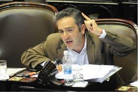 El diputado kirchnerista Andrés Larroque, secretario general de La Cámpora