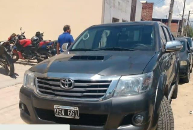 La Toyota Hilux secuestrada