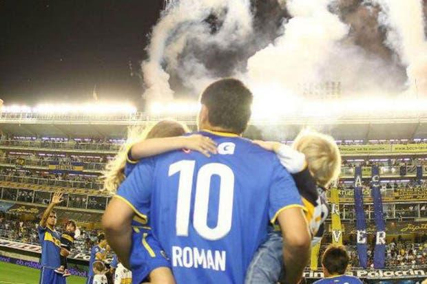 Una imagen del usuario de Boca en Facebook apoyando al Román