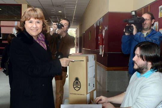 Ana pechen, La vice gobernadora del Neuquén y pre candidata a senadora por el Movimiento Popular. Foto: Télam