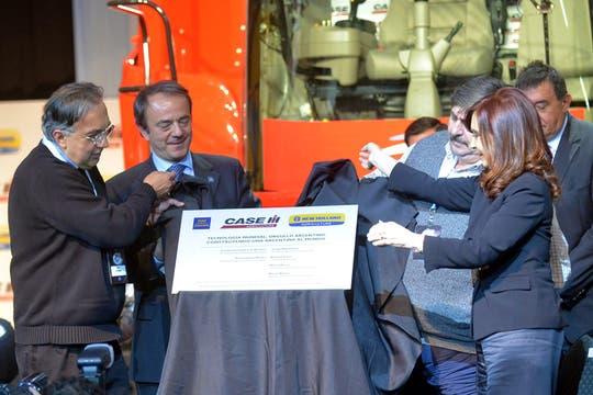 El 7 de mayo viajó a Córdoba para inaugurar una fábrica de Fiat. Foto: Télam