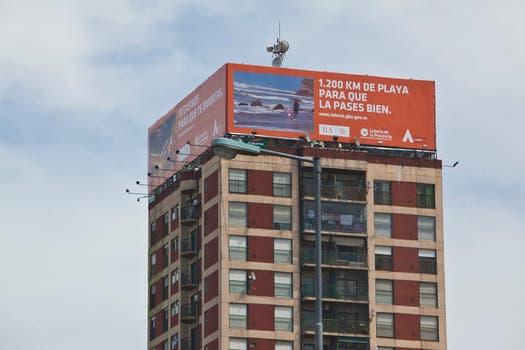 Arriba de un edificio, Scioli ya piensa en la temporada. Foto: LA NACION / Matias Aimar