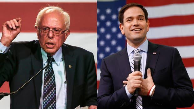 Bernie Sanders y Marco Rubio