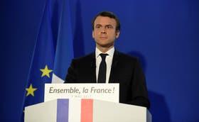 Emmanuel Macron habla después de conocer los primeros resultados