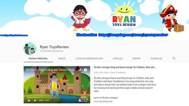 El canal de YouTube de Ryan ToysReview generó casi 8.000 millones de reproducciones entre junio de 2016 y junio de 2017, según Forbes