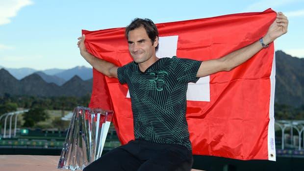 Federer se colocó sexto en el ranking mundial tras ganar el título en Indian Wells