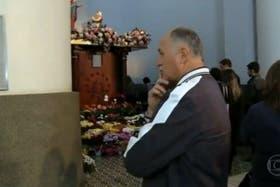 Scolari visitó a la virgen de Nuestra Señora de Caravaggio, como en 2002 y 2013