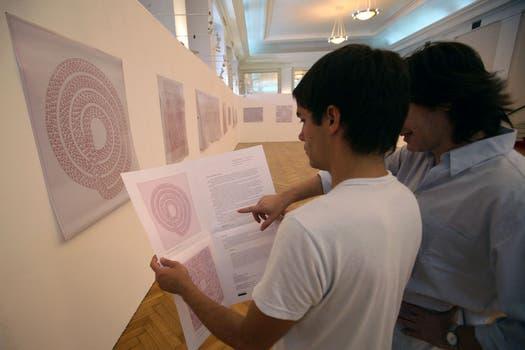 En 2008, expuso obras junto a trabajos de su padre en Mar del Plata. Foto: Archivo