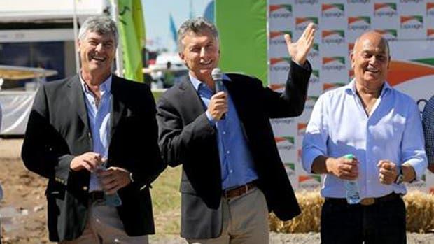 Juntos, Mauricio Macri y Gerónimo Venegas en Expoagro en marzo pasado.