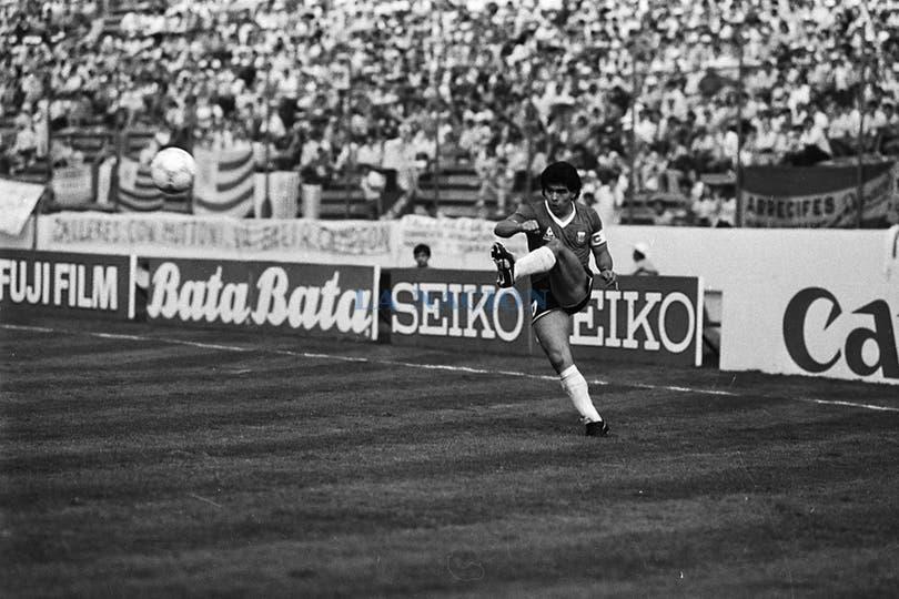 En el partido contra Uruguay estuvo mucho tiempo jugando por la banda izquierda. Foto: LA NACION / Antonio Montano