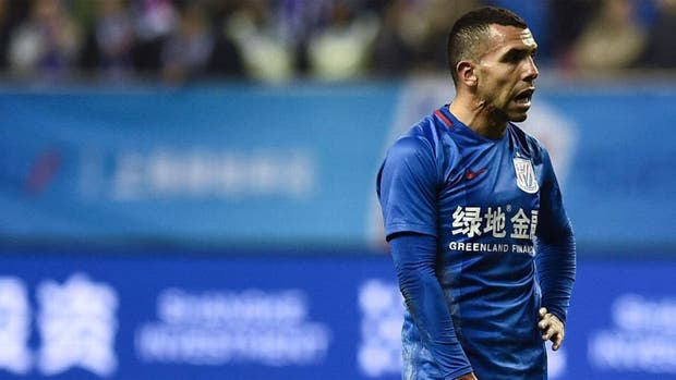 Empate del Shanghai de Tevez en la Liga china