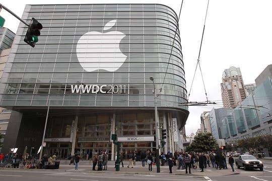 El Moscone Center, el recinto que Apple utiliza para realizar el encuentro de desarrolladores de la compañía. Foto: AFP