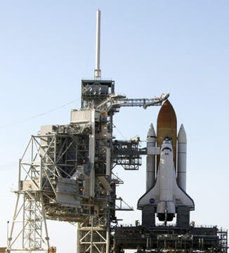 Plataforma de lanzamiento del transbordador Atlantis en Cabo Cañaveral. Foto: EFE