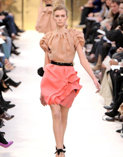 Falda con volados ideal para las que tienen caderas pequeñas. Foto:Archivo /Fuente: femeninas.com