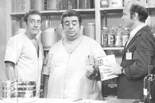 Olmedo y Porcel haciendo de las suyas. Foto: Archivo La Nación
