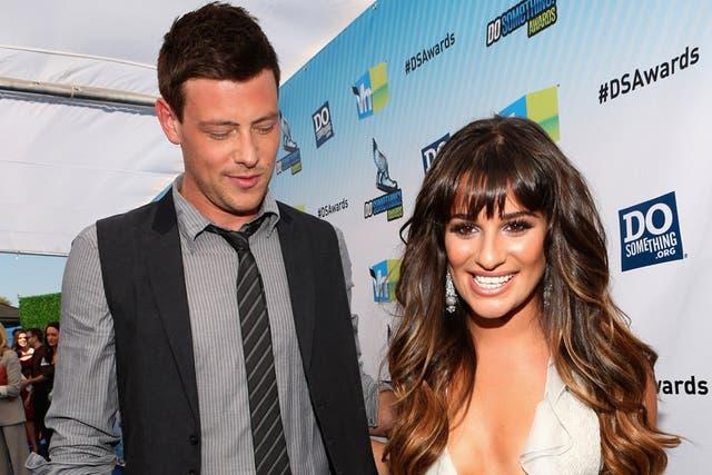 """Desde hace más de un año que Lea Michele y Cory Monteith pasaron de pareja en """"Glee"""" a novios en la vida real"""