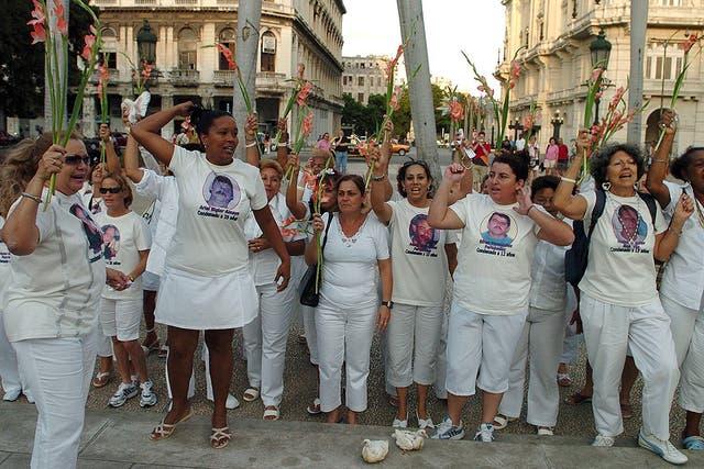 Las Damas de Blanco, la agrupación que desde la isla cuestionó al régimen