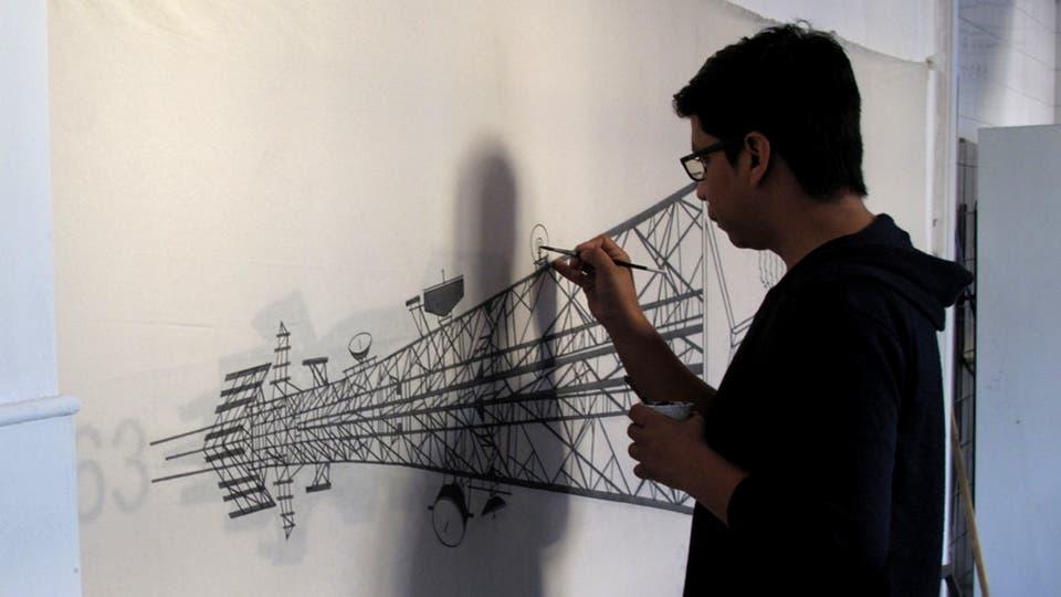 Diego Mendoza, de Colombia, se contó entre los 15 artistas de varios países que participaron en octubre de la Residencia de Arte en Buenos Aires