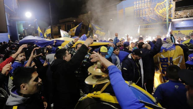 Los fanáticos Xeneizes se fueron al estadio para festejar el campeonato. Foto: LA NACION / Daniel Jayo