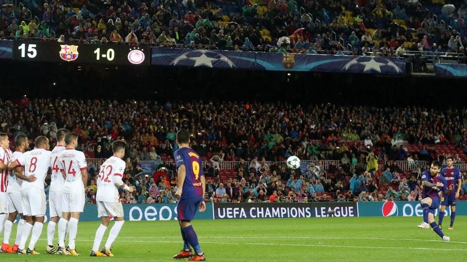 El grito número 100 de Messi en competiciones europeas