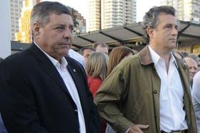 Alfredo de Angelis junto al presidente de la Sociedad Rural Argentina, Luis Miguel Etchevehere.