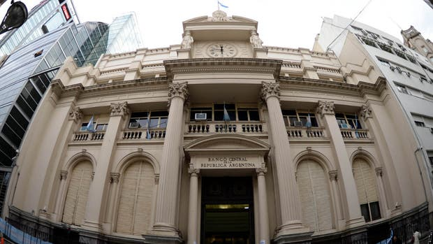 La fachada del Banco Central